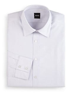 Hugo Boss - Lex Woven Plaid Button-Front Shirt/Light Purple