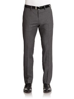 Hugo Boss - Crigan Woven Pinstriped Wool Pants/Grey