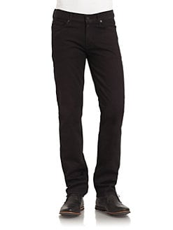7 For All Mankind - Slimmy Straight-Leg Jeans/Merlot