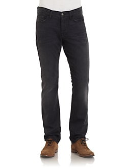 7 For All Mankind - Rhigby Faded Straight-Leg Jeans