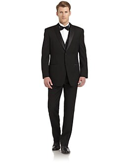 Ike Behar - Wool Satin Peaked-Lapel Tuxedo