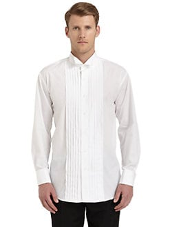Ike Behar - Tuxedo Collar Formal Cotton Shirt