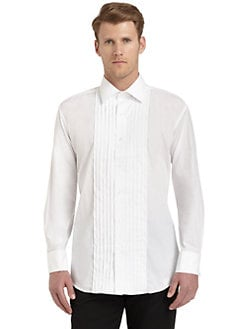 Ike Behar - Point Collar Cotton Formal Shirt