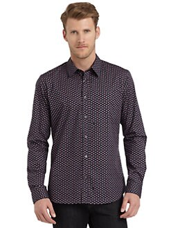 Moschino - Heart-Print Cotton Button-Down Shirt