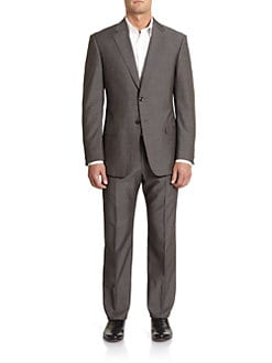 Armani Collezioni - Bird's-Eye Wool Suit