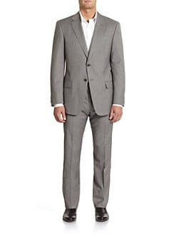 Armani Collezioni - Executive Wool & Silk Pinstriped Suit