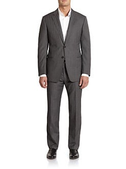 Armani Collezioni - Wool & Silk Striped Suit