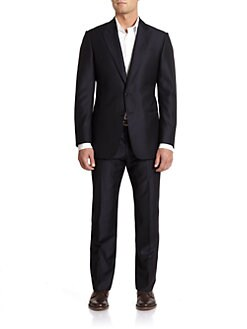 Armani Collezioni - Wool Striped Suit