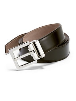 Dolce & Gabbana - Logo Leather Belt/Brown