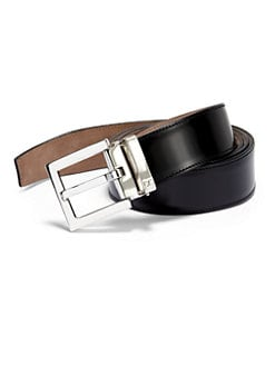 Dolce & Gabbana - Logo Leather Belt/Black