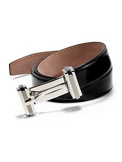 Dolce & Gabbana - Patent Leather Double-Buckle Belt