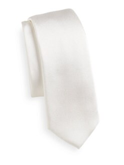 Dolce & Gabbana - Silk Satin Skinny Tie/Ivory