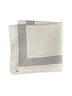 Dolce & Gabbana - Printed Silk Pocket Square/Ivory