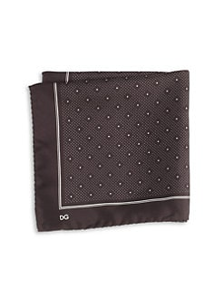 Dolce & Gabbana - Polka Dot-Print Silk Pocket Square