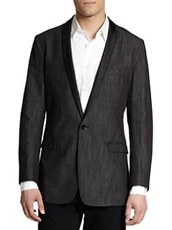 Dolce & Gabbana - Silk-Trimmed Denim Sportcoat