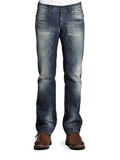 Dolce & Gabbana - Distressed Dark Wash Jeans