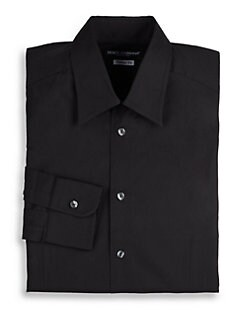 Dolce & Gabbana - Classic Stretch Cotton Dress Shirt/Black