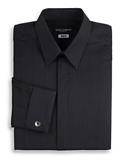 Dolce & Gabbana - Pinstriped Cotton Dress Shirt