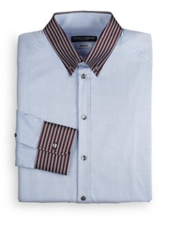 Dolce & Gabbana - Silk-Trimmed Cotton Dress Shirt