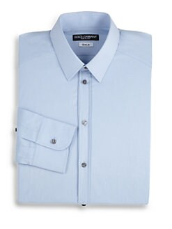 Dolce & Gabbana - Classic Stretch Cotton Dress Shirt/Light Blue