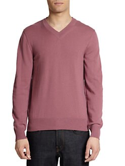 Dolce & Gabbana - Cashmere V-Neck Pullover Sweater/Mauve