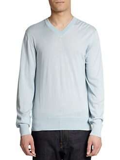 Dolce & Gabbana - Lightweight Cashmere V-Neck Pullover Sweater
