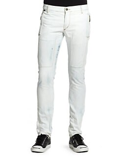 Just Cavalli - Light Wash Straight-Leg Jeans