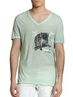Just Cavalli - Koala Bear-Print Cotton Tee
