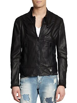 Just Cavalli - Perforated Leather Jacket