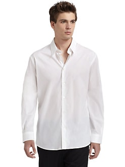 Costume National - Classic Button-Down Shirt/White