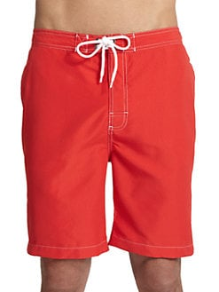 Trunks - Swami Swim Trunks/Red
