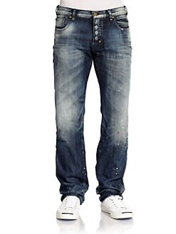 PRPS - Shining Wall Faded Straight-Leg Jeans