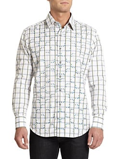 Robert Graham - Even Keel Striped Button-Front Shirt