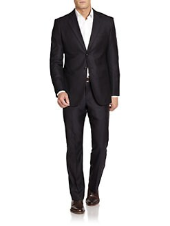 Giorgio Armani - Striped Wool & Silk Suit
