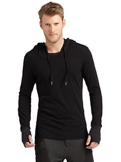 Nicholas K - Fleet Cotton Hooded Shirt