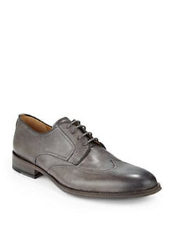 Magnanni - Burnished Leather Wingtip Oxfords