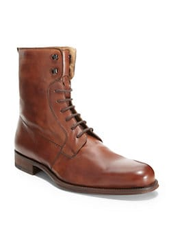 Magnanni - Leather Lace-Up Ankle Boots