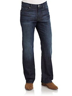 7 For All Mankind - Relaxed-Fit Dark Wash Jeans
