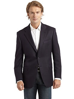 Hickey Freeman - Cotton & Silk Twill Blazer