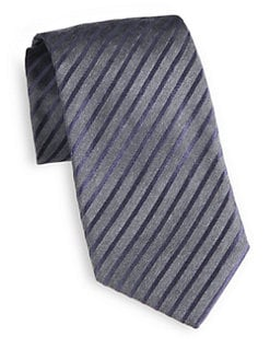 Giorgio Armani - Diagonal Striped Silk Tie