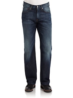 7 For All Mankind - Relaxed-Fit Medium Wash Jeans