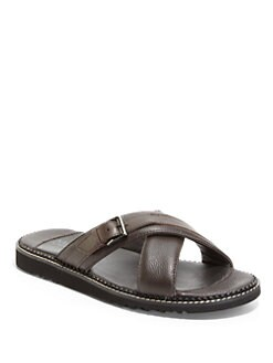 Bruno Magli - Vezio Buckle Detail Slippers