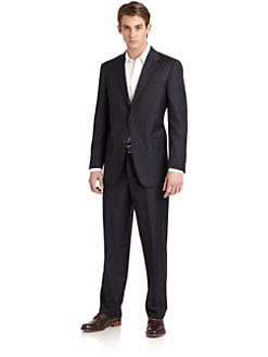 Hickey Freeman - Lindsey L Series Wool Striped Suit
