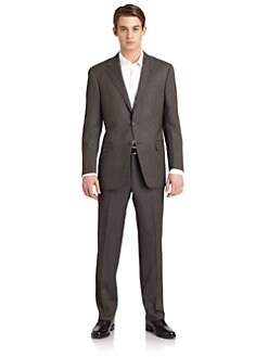 Hickey Freeman - Lindsey L Series Wool Birds-Eye Suit