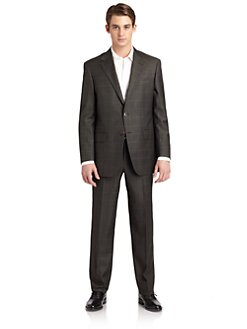 Hickey Freeman - Lindsey L Series Wool Plaid Suit