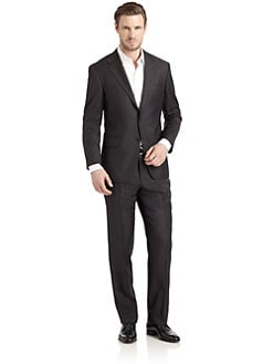 Hickey Freeman - Lindsey L Series Wool Pinstripe Two-Button Suit