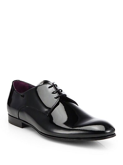 Vernice Patent Leather Tuxedo Shoes