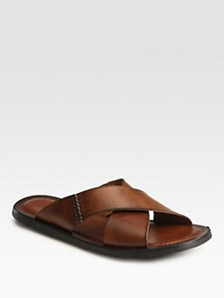 To Boot New York - Kismet Leather Slide Sandals