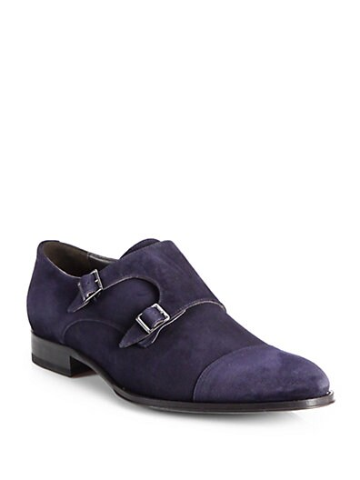 Medford Suede Monk Strap Shoes