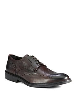 To Boot New York - Carr Pebbled Leather Wingtip Oxford